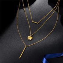 Collar de Multi-Capa en Acero Inoxidable -SSNEG142-8441