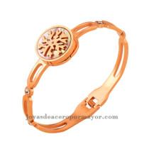 pulsera oro rosado de joyas de moda en acero inoxitable