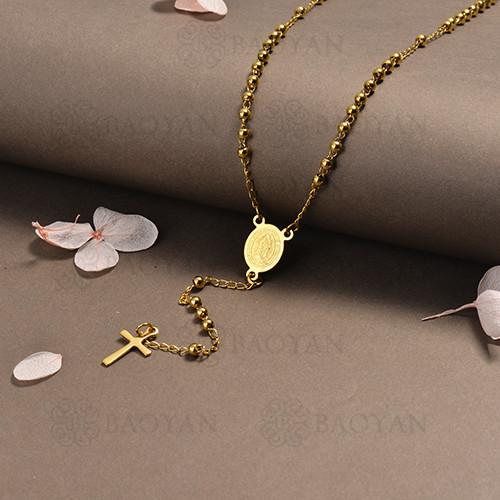 rosario en acero inoxidable -SSNEG95-16403