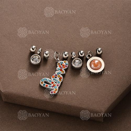 Conjunto de Charms DIY en Acero Inoxidable -SSSTG142-8510