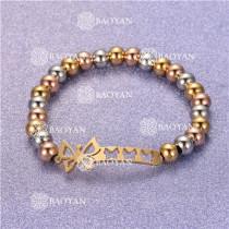 Pulsera con Bolitas Oro Dorado Para Mujer -SSBTG95-6301