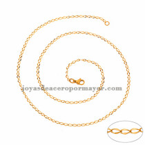 cadena 2mm estilo simple dorado  en acero inoxidable-SSCDG46185