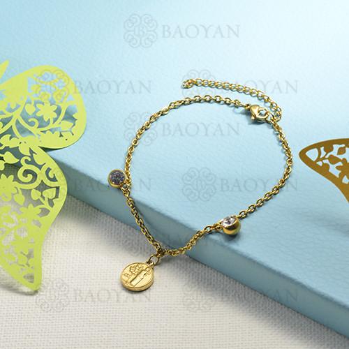 pulseras de charms en acero inoxidable -SSBTG142-16195