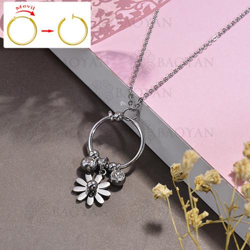 collar de DIY en acero inoxidable -SSNEG143-15506