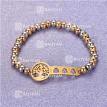 Pulsera con Bolitas Oro Dorado Para Mujer -SSBTG95-6276