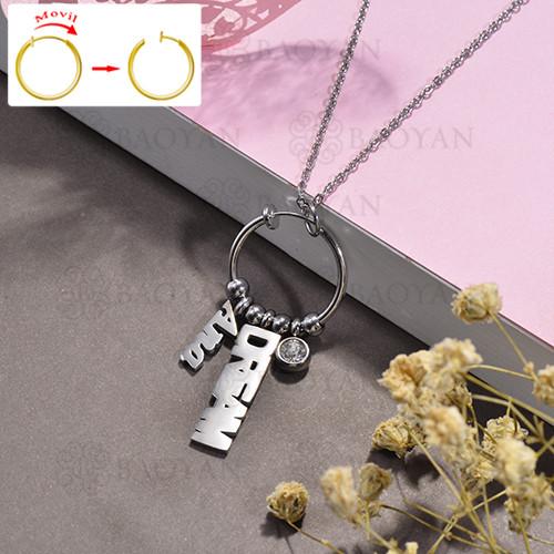 collar de DIY en acero inoxidable -SSNEG143-15489