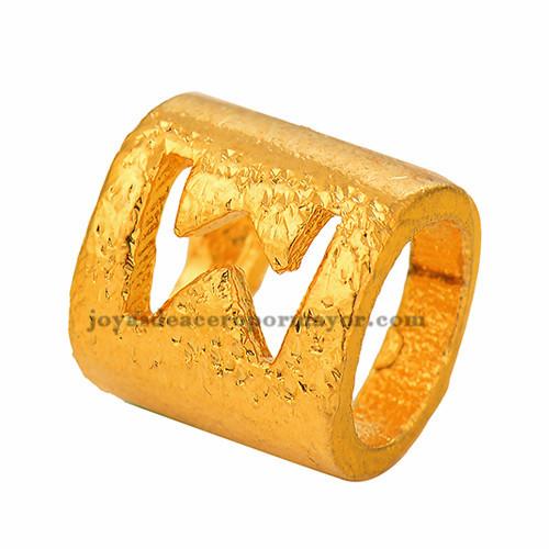abolarios de  letra  W  dorado oro laminado-BRPTG90067