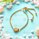 brazalete dorado en acero inoxidable -SSBTG126-8599