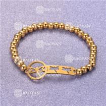 Pulsera con Bolitas Oro Dorado Para Mujer -SSBTG95-6302