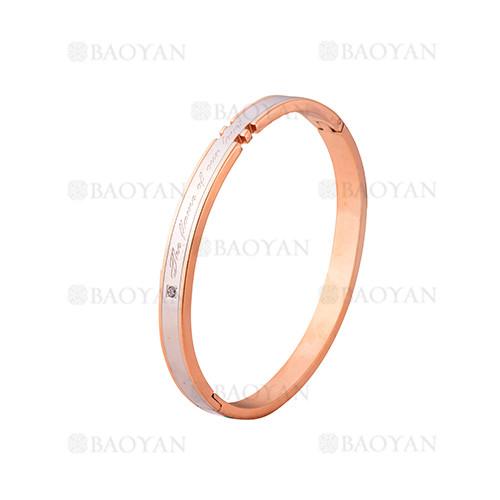 pulsera de moda de oro rosado en acero inoxidable-SSBTG1225011