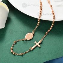 Collar Rosario Catholic en Acero Inoxidable -SSNEG135-8328