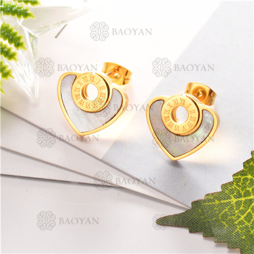 Pendientes de joyas acero inoxidable -SSEGG80-6300