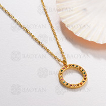 Collar de Acero Inoxidable Multi Color -SSNEG143-13033