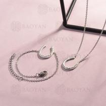Conjunto de pulseras y Collar para Mujer en Acero Inoxidable -SSCSG143-14808-S