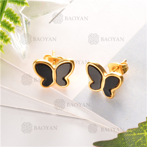 Pendientes de joyas acero inoxidable -SSEGG80-6304