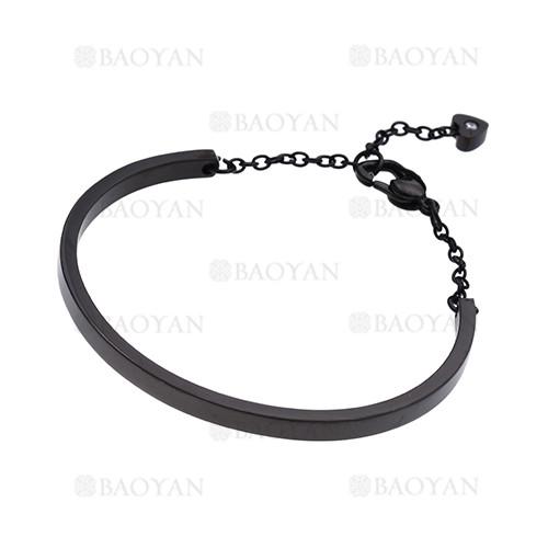 pulsera de moda de negro en acero inoxidable-SSBTG1225025