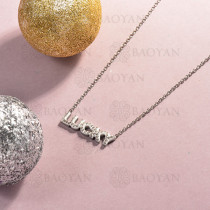 collar de acero inoxidable para mujer -SSNEG143-14815-S