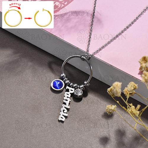 collar de DIY en acero inoxidable -SSNEG143-15491