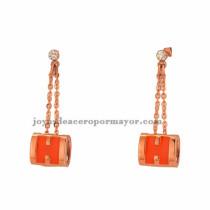 pendiente de naranja en color oro rosado para mujer -SSEGG672525
