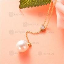 collar de acero inoxidable -SSNEG92-7459