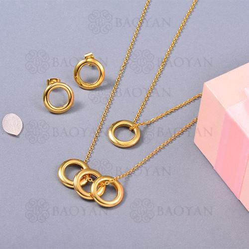 Conjunto de Collar en Acero Inoxidable -SSNEG126-13062