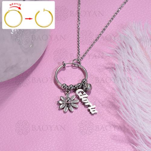 collar de DIY en acero inoxidable -SSNEG143-15486