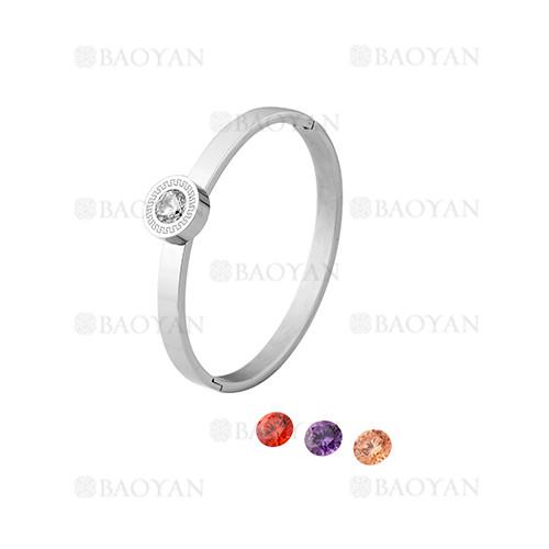 pulsera de moda con cristal de plateado en acero inoxidable-SSBTG1225018