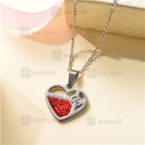 Collar Regalo para Novia en el Dia de Amor en Acero Inoxidable -SSNEG143-11324