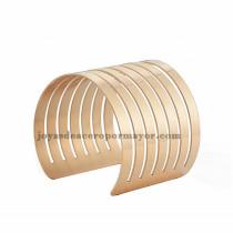 pulsera de estilo moda raya en acero rosado inoxidable -SSBTG213284