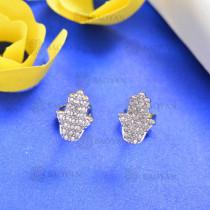Aretes de Bronce con Circon -BREGG158-8165