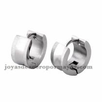 argollas 13mm estilo simple plata en acero inoxidable para mujer -SSEGG274089