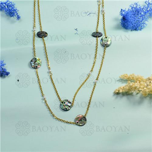 joyeria de coleccion de concha de mar -SSNEG142-15833