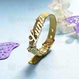 pulsera de charm en acero inoxidable para mujer -SSBTG142-16163-G