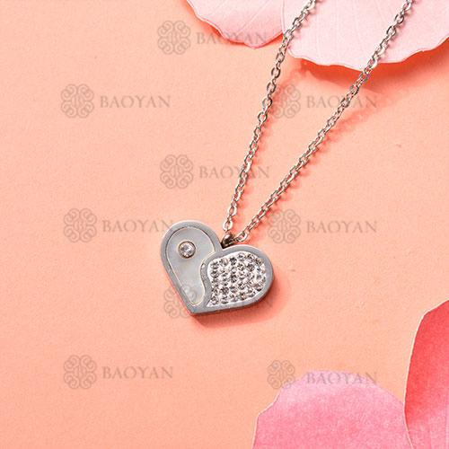 Collar de Acero Inoxidable para Mujer -SSNEG143-11371