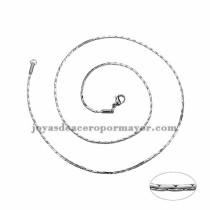 cadena 1mm estilo simple plateado   en acero inoxidable-SSCDG46188