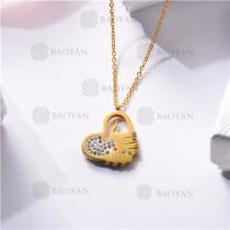 Collar Regalo para Novia en el Dia de Amor en Acero Inoxidable -SSNEG143-11340