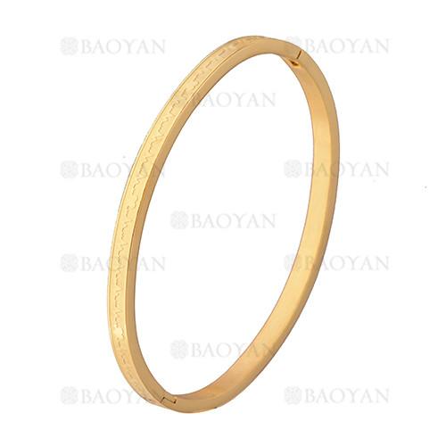 pulsera moda especial en acero dorado inoxidable -SSBTG1225554