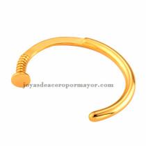 pulseras de moda de modelo tornillo en oro doradas para mujer