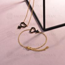 Conjunto de pulseras y Collar para Mujer en Acero Inoxidable -SSCSG143-14810-G