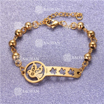 Pulsera con Bolitas Oro Dorado Para Mujer -SSBTG95-6195