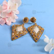 Aretes en Estilo Baroque con Cristal y Perla -BREGG162-8960