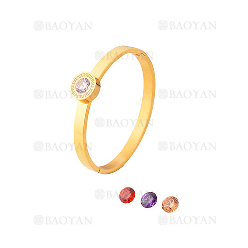 pulsera de moda con cristal de dorado en acero inoxidable-SSBTG1225019
