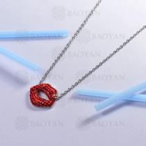 collar de acero inoxidable para mujer -SSNEG143-14803-S