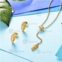 conjunto de joyas acero dorado inoxidable -SSNEG126-9588
