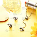 conjunto de joyas acero plateado inoxidable -SSNEG126-9602