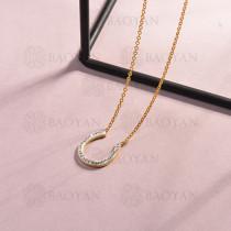 collar de acero inoxidable para mujer -SSNEG143-14808-G