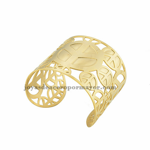 pulsera de logo de avion en acero dorado inoxidable para mujer -SSBTG213302