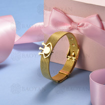 pulsera de charm en acero inoxidable para mujer -SSBTG142-16124-G