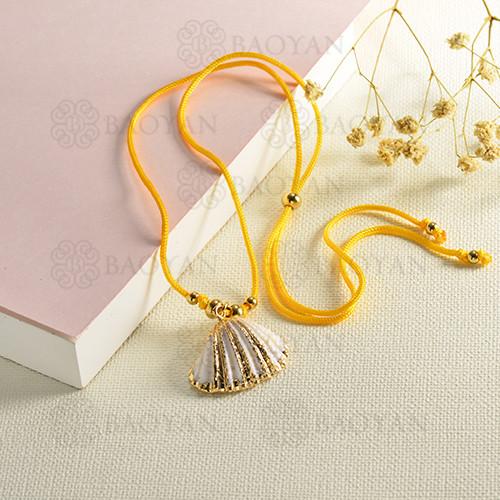conjunto de collar y aretes en acero inoxidable -SSNEG142-15094