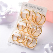 argollas de acero dorado inoxidable-SSEGG26-7265